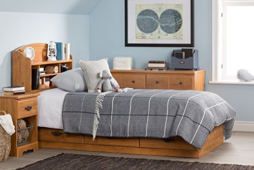 home, kitchen, furniture, bedroom furniture, beds, frames, bases, headboards, footboards,  headboards 2 picture South Shore Prairie Bookcase Headboard with Storage, Twin promotion