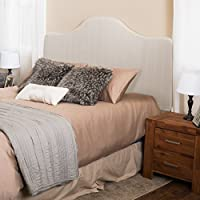 Flores King to Cal King Adjustable Beige Fabric Headboard