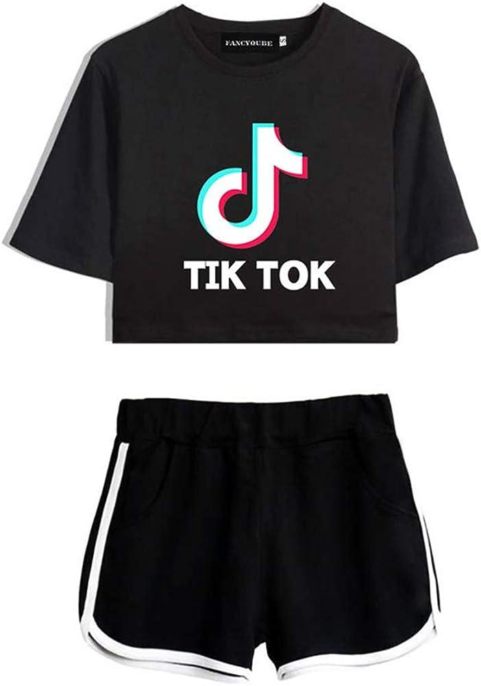 Lady Bug Damen M/ädchen TIK-Tok T-Shirt AirPods Schutzh/ülle Anzug Casual Fashion Trainingsanzug Shorts