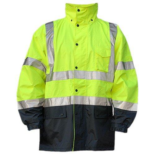 Majestic Glove 75-1305/L Rain Jacket, Hi-Vis, Class 3, Large, Yellow