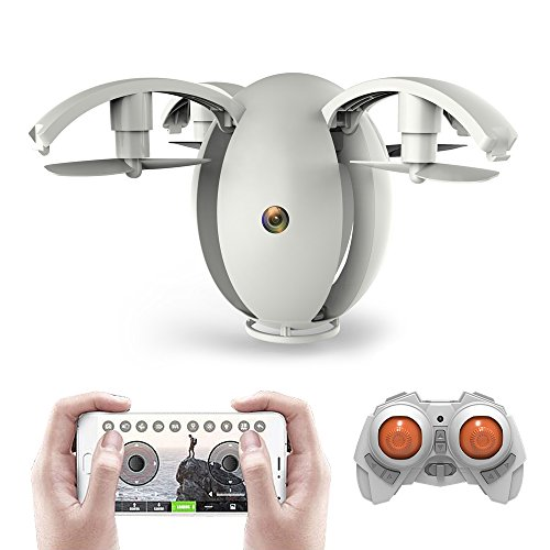 KAI DENG K130 ALPHA Flying Egg, Foldable RC Drone Quadcopter Wth Wifi 480P Camera,Altitude Hold(Remote Controller Included)