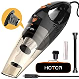 HOTOR Corded Car Vacuum Cleaner with LED Light, DC12-Volt Wet/Dry Portable Handheld Auto Vacuum...