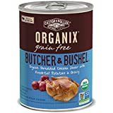 Organix Butcher & Bushel Shredded Chicken Dinner with Fresh-Cut Potatoes Grain-Free Adult Dog Food, 12.7-Ounce Cans (Pack of 12)