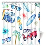 Best Set With Adventure Trees - InterestPrint Vintage Shower Curtain, Fun Holiday Activity Watercolor Review