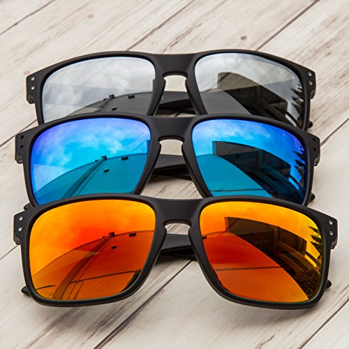 edf6184a370 GAMMA RAY Polarized UV400 Classic Sunglasses with Shatterproof Nylon Frame  – Choose Your Color