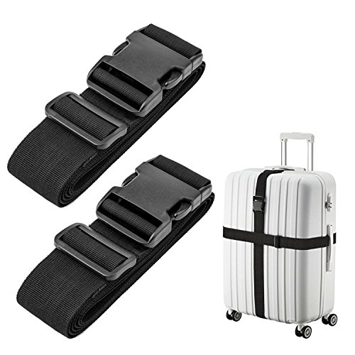 Luxebell Luggage Straps Suitcase Belt Add-A-Bag Travel Accessories, Heavy Duty Strap, 2-Pack...