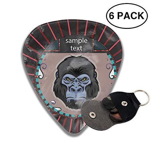 Portrait Of A Orangutan 3D Printed Rockpeak Guitar Pick Light,Medium,Heavy,6pcs ()