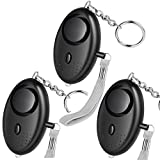 HXDZFX Emergency Personal Alarm,135DB Self-Defense Electronic Device Security Alarm Keychain With LED Light for Women Kids Girls Elderly Safety – 3 Pack