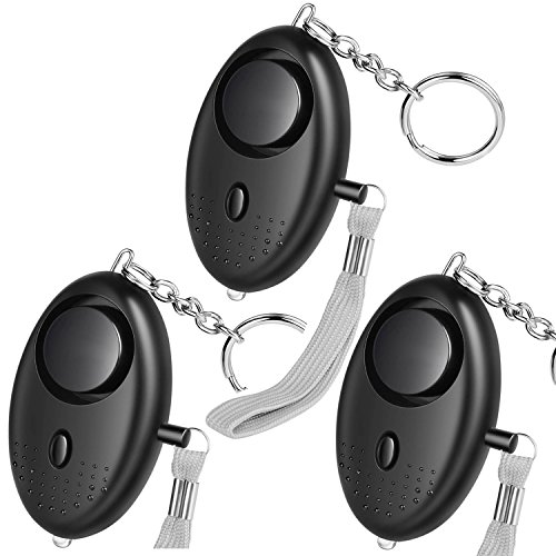 HXDZFX Emergency Personal Alarm,135DB Self-Defense Electronic Device Security Alarm Keychain With LED Light for Women Kids Girls Elderly Safety - 3 Pack