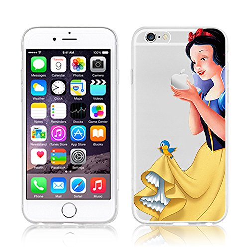 NEW DISNEY PRINCESSES TRANSPARENT CLEAR TPU SOFT CASE FOR APPLE IPHONE 7 PLUS - SNOW WHITE 1
