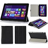 Asuxtek® Asus Transformer Book T100 ultra-thin Smart Cover Case (For Asus Transformer Book T100, Black II)