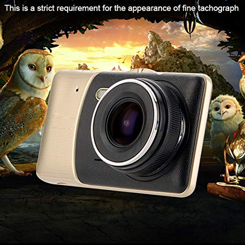 Driving Recorder/car Video Recorder,4inch IPS Screen Full HD 170 Degree Viewing Angle Car DVR Monitor 1080P Front+Rear Video Parking Device Extremely Wide View