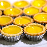 4 Sizes 40pcs Egg Tart Aluminum Cupcake Cake Cookie Mold Lined Mould Tin Baking Tool
