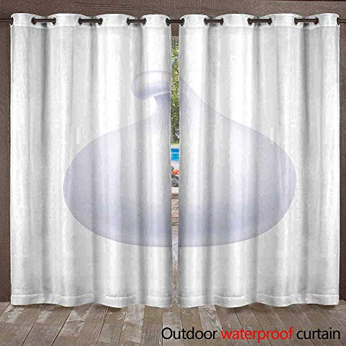 (RenteriaDecor Outdoor Curtains for Patio Sheer Whipped Cream Foam Product Isolated on White W84 x L108)