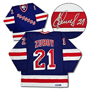 Sergei Zubov New York Rangers Signed Retro CCM Hockey Jersey