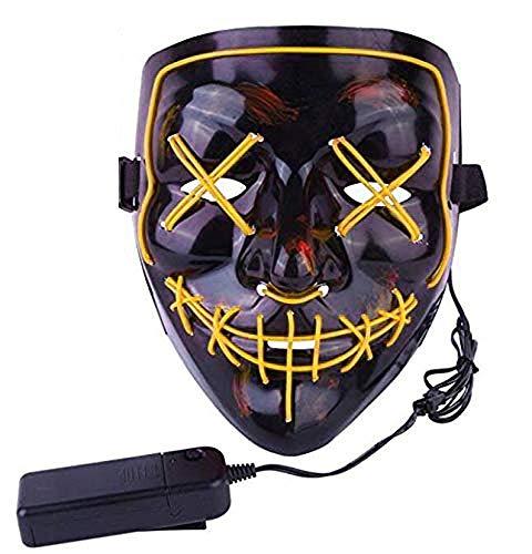 SOFEELING LED Light Up Mask Frightening Mask with