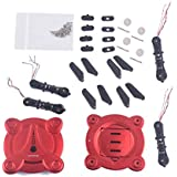 YouCute Spare Part Kit For FQ17W RC drone Rc Quadcopter black blade CW motor and CCW motor (Red Kit)