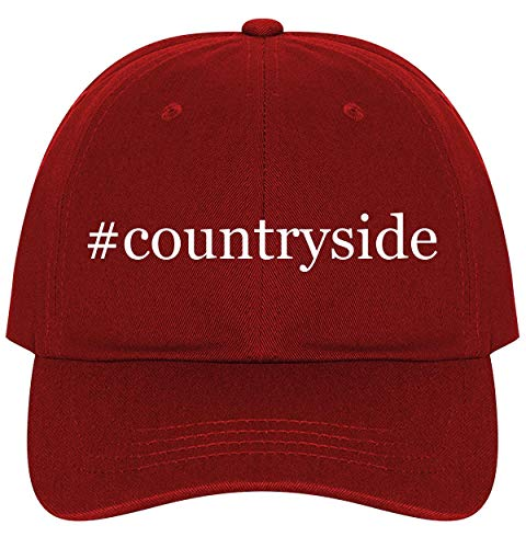 Countryside Stoneware - #Countryside - A Nice Comfortable Adjustable Hashtag Dad Hat Cap, Red, One Size