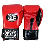 Cleto Reyes Hook & Loop Boxing Training Extra Padding Gloves (Red, 14 oz.)