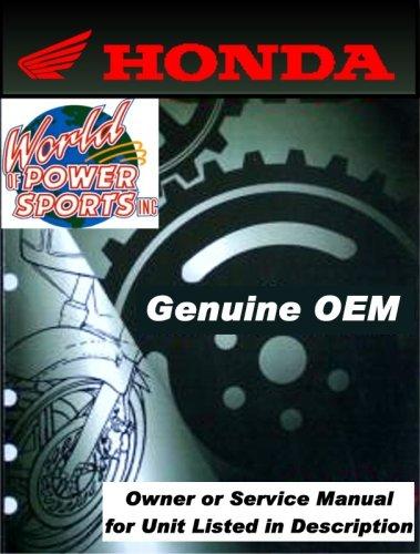 Genuine Honda Manual for GL1500C/CT 98 - Owners Manual