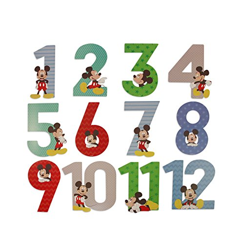 Disney Baby Boys Mickey Mouse Milestone Photo Prop Numbers Gift Set, No No Size]()