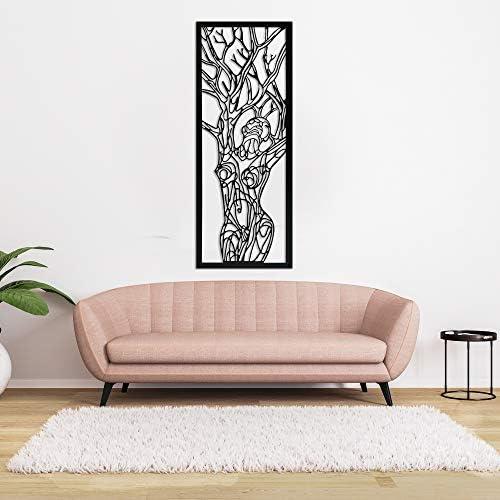 Minimalist Line Art Woman Tree of Life