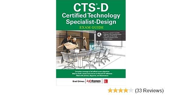 Cts D Certified Technology Specialist Design Exam Guide Grimes Brad Inc Avixa Ebook Amazon Com