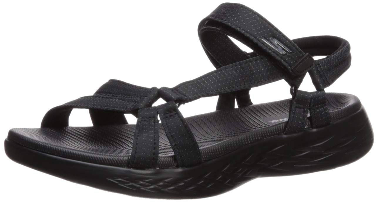 Skechers Performance Women's on-the-Go 600-Brilliancy Sport Sandal, black, 8 M US by Skechers