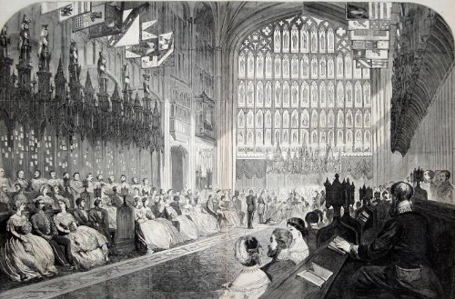 - 42x63 Poster; Wedding Of The Prince Of Wales And Alexandra Of Denmark, 1863 St Georges Chapel Windsor Castle