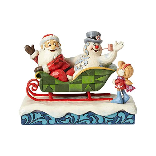 (Enesco Santa, Frosty and Karen/Sleigh Figurine 6