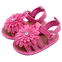 Voberry® Baby Infant Girls Flower Shoes Summer Crib Sandals