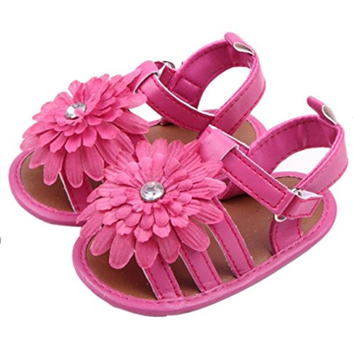 Voberry® Baby Infant Girls Flower Shoes Summer Crib Sandals