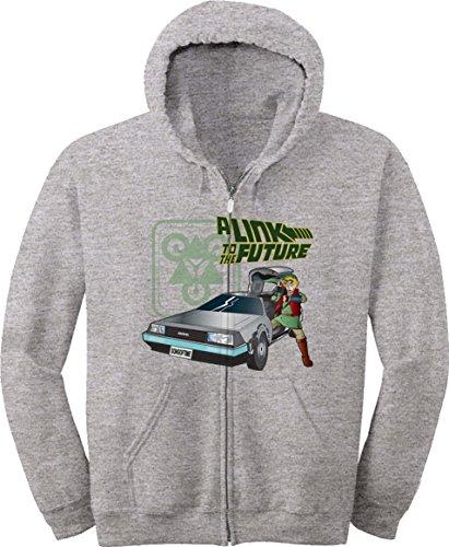 Zip Lrg Hoody (BSW Youth A Link to the Future Zelda DeLorean Zip Hoodie LRG Sport Grey)