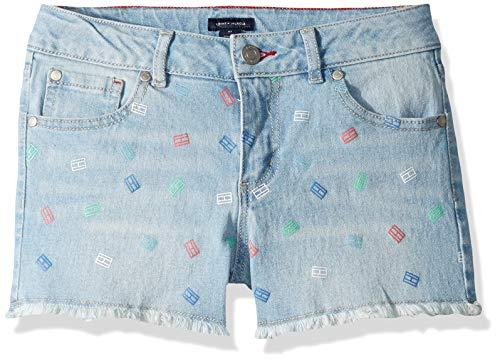 Tommy Hilfiger Big Girl's Girls' Big 5-Pocket Denim Short Shorts, print bowery, 10 ()