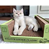 Scratch Lounge Cardboard Cat Scratcher - New Size - Lasts 10 Times Longer Than Other Conventional Scratchers - Large and…
