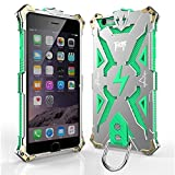 Iphone 6 6s plus Case, bpowe Hollow Design Full Signal Thor Case, Aviation Aluminum Anti-scratch Strong Protection Metal Hard Rugged Case for Iphone 6/6s plus 5.5inch (silver/green)