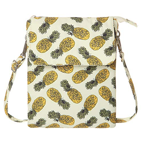 (Small Crossbody Bag Printed Fabric Cell Phone Purse With Credit Card)