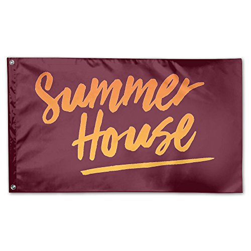 Oyhra Inspirational Summer Season Hot Family Party Outdoor Yard Garden Flags 3x5 Semi Transparent Polyester Fiber (Customs For Halloween In Miami)