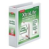 "Cardinal XtraLife ClearVue Non-Stick Locking Slant-D Ring Binder, 2"", White (26320)"