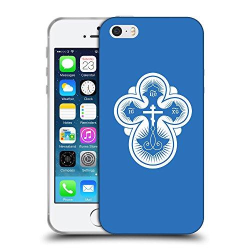 GoGoMobile Coque de Protection TPU Silicone Case pour // Q09300608 Croix chrétienne 40 Azur // Apple iPhone 5 5S 5G SE