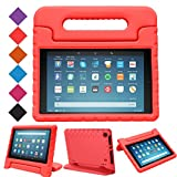 BMOUO Case for All-New Fire HD 8 2017/2018 - Light Weight Shock Proof Convertible Handle Kid-Proof Cover Kids Case for All-New Fire HD 8 Tablet (7th and 8th Generation, 2017 and 2018 Release), Red