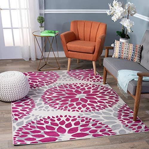 Rugshop Floral Circles Design Area Rug, 5