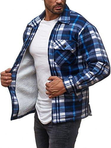 2 Homme Pour Bleu Carreaux Manches Chemise À Arizonashopping Thermiques Bûcheron wz1aSXn
