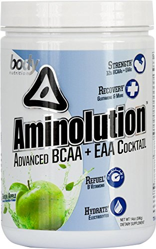 Body Nutrition Aminolution Green Apple Advanced BCAA + EAA Cocktail 14 Oz Review