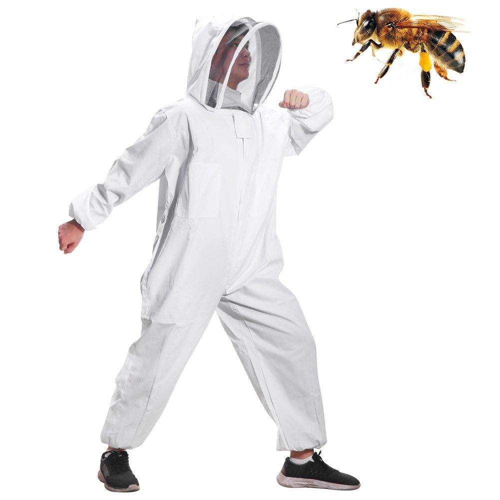 ABEDOE Beekeeping Suit, Beekeeping Veil With Bee Keeping Suit Suitable for Beginner and Commercial Beekeepers (L)