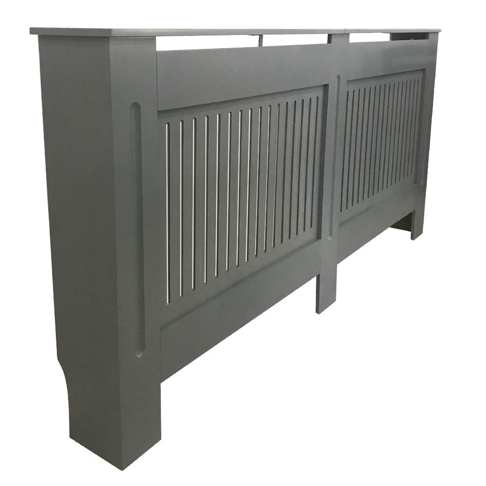 NRG Radiator Cover Grey MDF Painted Cabinet Mordern Home Funiture Vertical Small 780 x 815 x 190mm