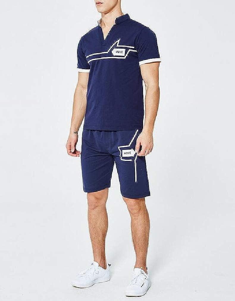 Vska Mens Flower Printed Breathable Oversize Running Jacket Sweatsuit Set