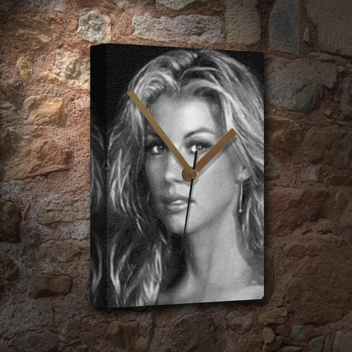 FAITH HILL - Canvas Clock (A4 - Signed by the Artist) #js001 by Canvas Clocks (A4) - Music