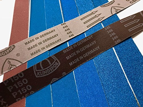 2x72 Knife Makers Grit Sanding Belts, 6 Pack Assortment by Dlk