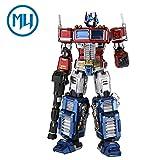 (US) 2017 MU 3D Metal Puzzle Transformers Optimus Prime G1 Model YM-L03G-C DIY 3D Laser Cut Assemble Jigsaw Toys For Audit
